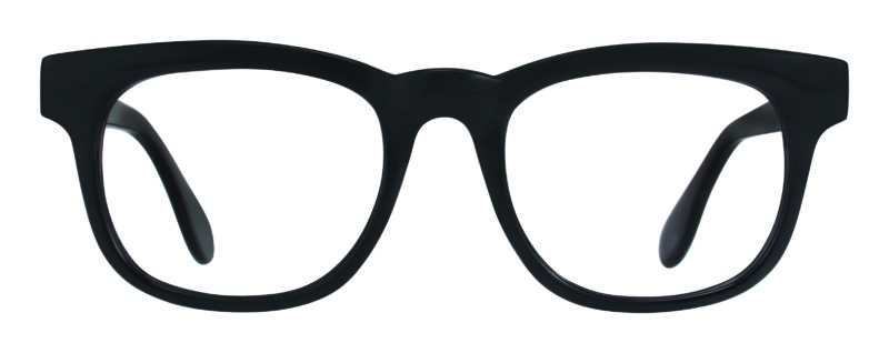 Churchill black eyeglass frames