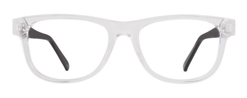Colfax crystal and black eyeglass frames