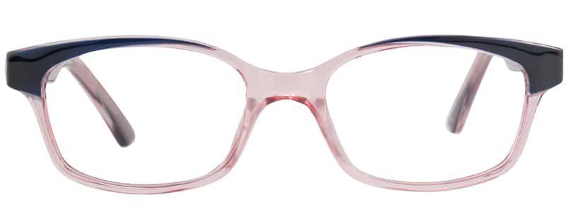 Calabash blue and rose eyeglass frames