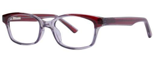 Calabash burgundy and blue eyeglass frames