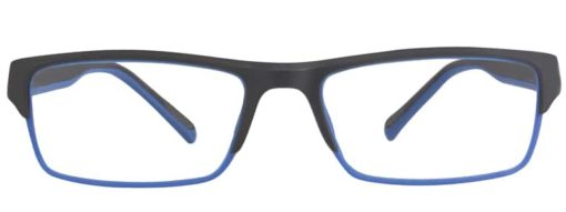 Cedar black and blue eyeglass frames front