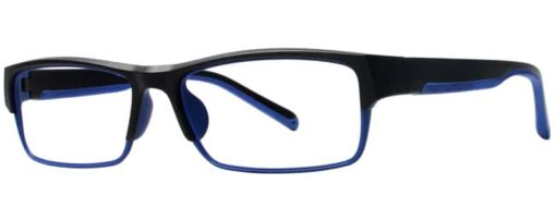 Cedar black and blue eyeglass frames side