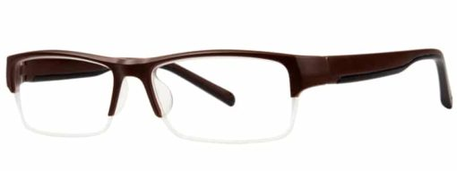 Cedar brown and black eyeglass frames
