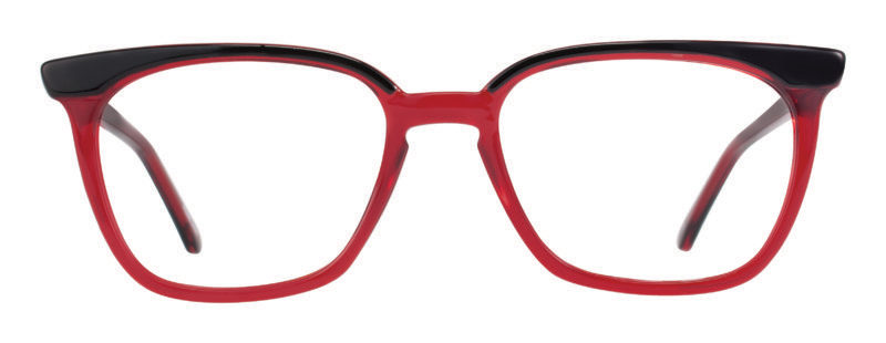 Everson burgundy and black eyeglass frames