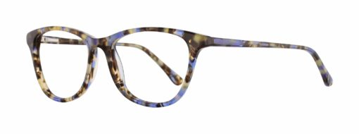 Magnolia blue tortoise eyeglass frames from side