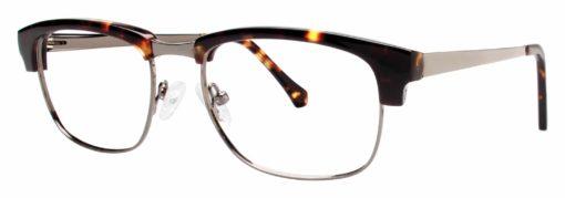 Loyal gunmetal and tortoise eyeglass frames
