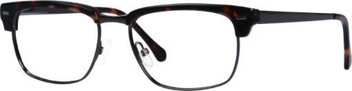 Loyal brown tortoise eyeglass frames from side