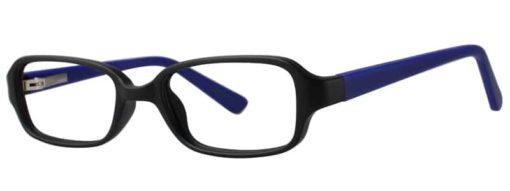 Hanson black and blue matte eyeglass frames