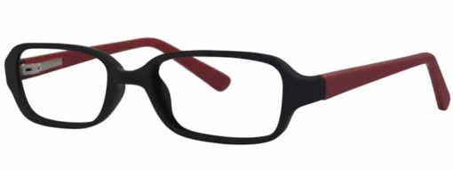 Hanson black and brick matte eyeglass frames from side