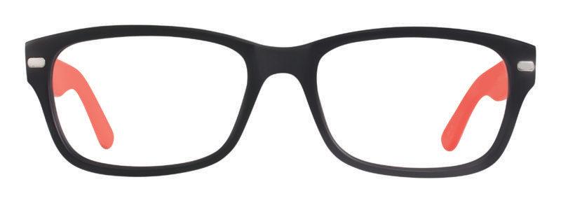 Jersey black and red matte eyeglass frames