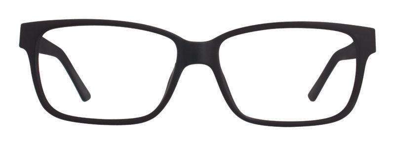 Keno black matte eyeglass frames