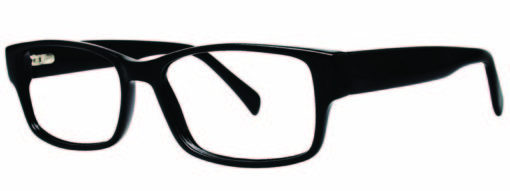 Lindley black eyeglass frames from side
