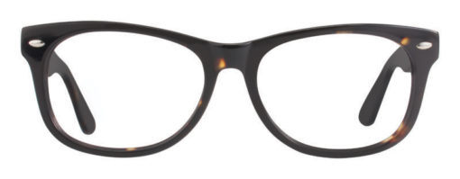Huson amber and black eyeglass frames