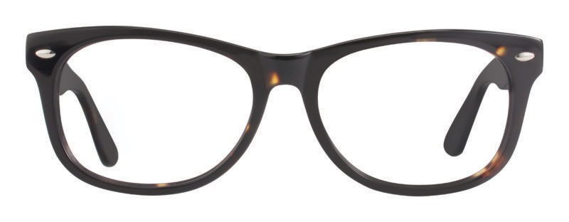 Huson amber and black eyeglass frames