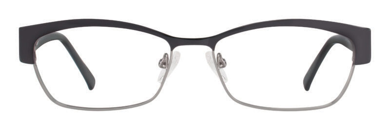 Mullen black and gunmetal eyeglass frames