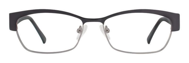 Mullen black and gunmetal eyeglass frames