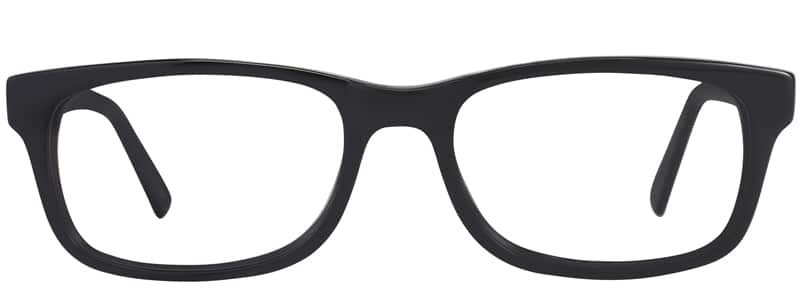 Allison Matte black eyeglass frames