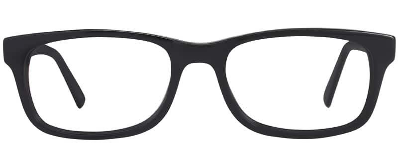 Allison Matte black eyeglass frames