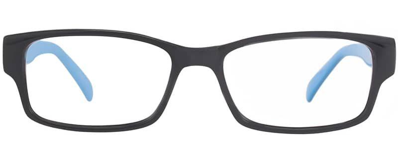 Devon black and sky blue eyeglass frames