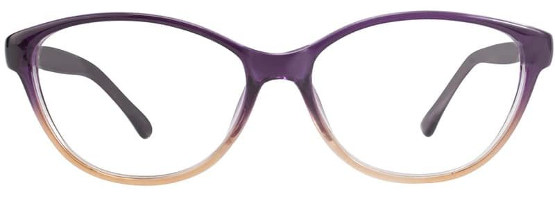 Earth purple fade eyeglass frames