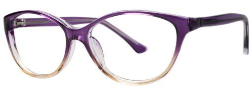 Earth purple fade eyeglass frames from side