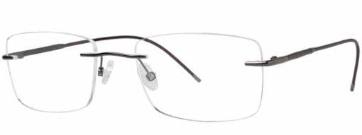 Redford gunmetal and brown eyeglass frames