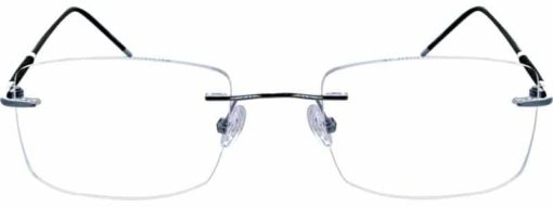 Redford silver and black eyeglass frames