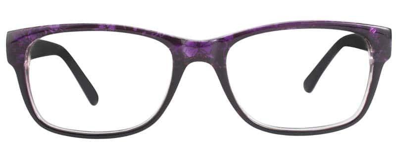 Fayette purple and black eyeglass frames
