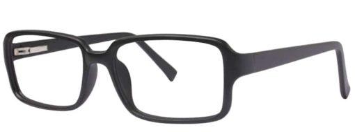 Jessie black matte eyeglass frames from side
