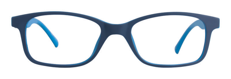 Riley navy and light blue eyeglass frames
