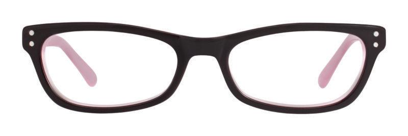 Tinsley black and pink eyeglass frames