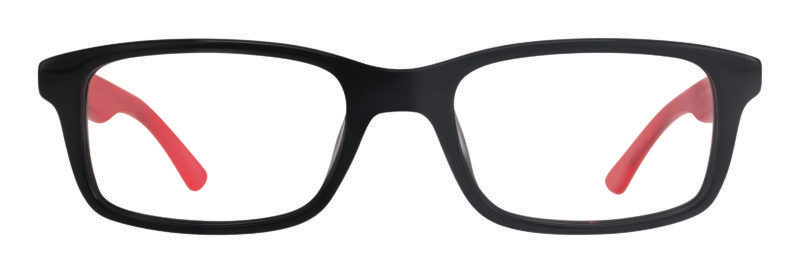 Upton black and red eyeglass frames