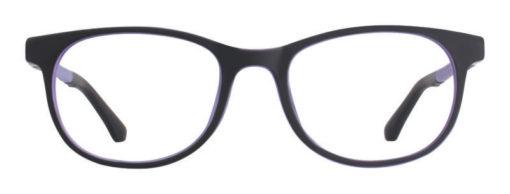 Zoar black matte and purple eyeglass frames