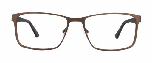Allerton brown eyeglass frames from front