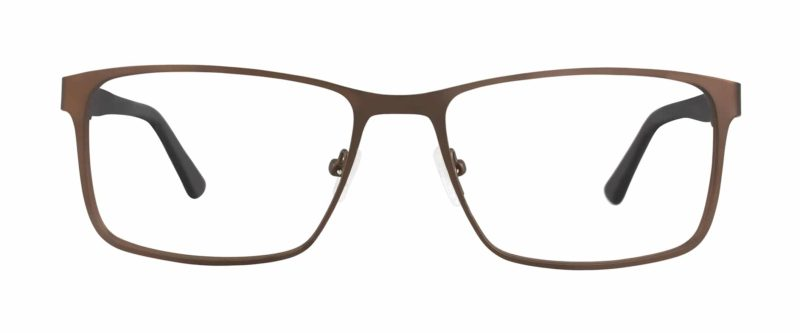 Allerton brown eyeglass frames from front
