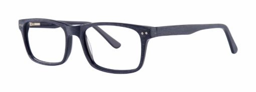 Purdy navy eyeglass frames from side