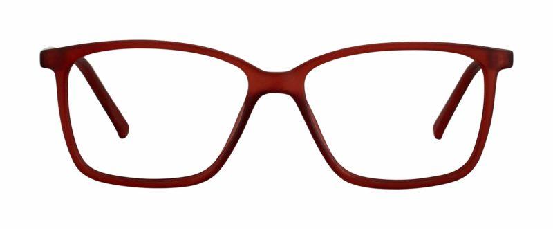 Jenks red matte eyeglass frames