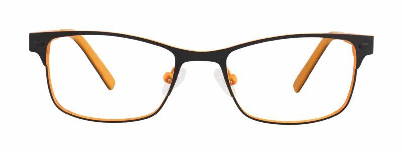Huntly black and orange eyeglass frames