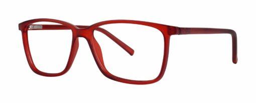 Jenks red matte eyeglass frames from side