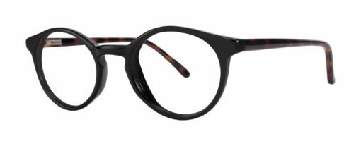 Fate black and tortoise eyeglass frames from side