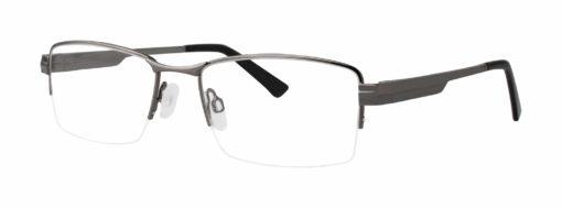 Wisner gunmetal eyeglass frames from side
