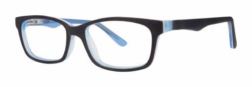 Ames navy matte and sky blue eyeglass frames