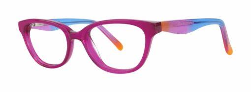 Farley fuchsia eyeglass frames from side