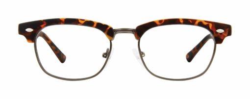 Edmon tortoise matte and pewter eyeglass frames