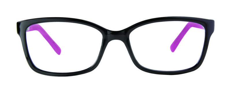 Belding black and plum eyeglass frames