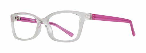 Belding crystal and pink eyeglass frames