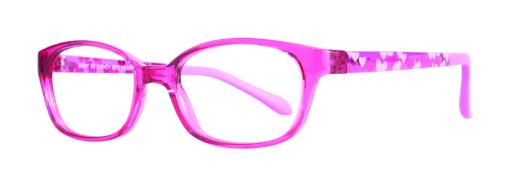 Izzy fuchsia eyeglass frames from side