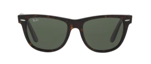 Ray-Ban: Wayfarer tortoise eyeglass frames front