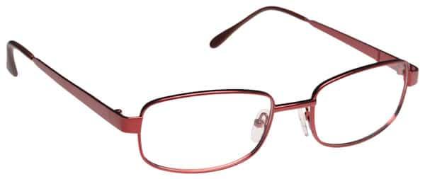 Evart Burgundy Eyeglass Frames