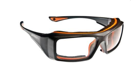 Garvin Black and Orange Eyeglass Frames